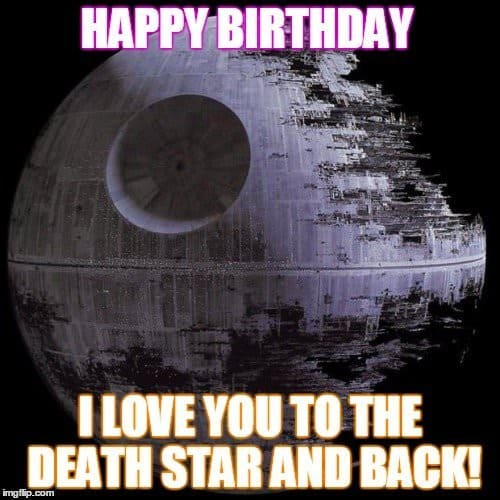 star wars birthday meme