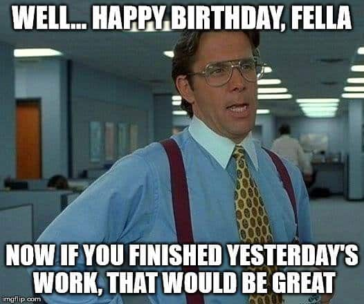 office birthday meme