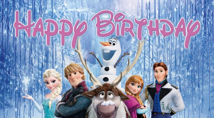 Frozen happy birthday
