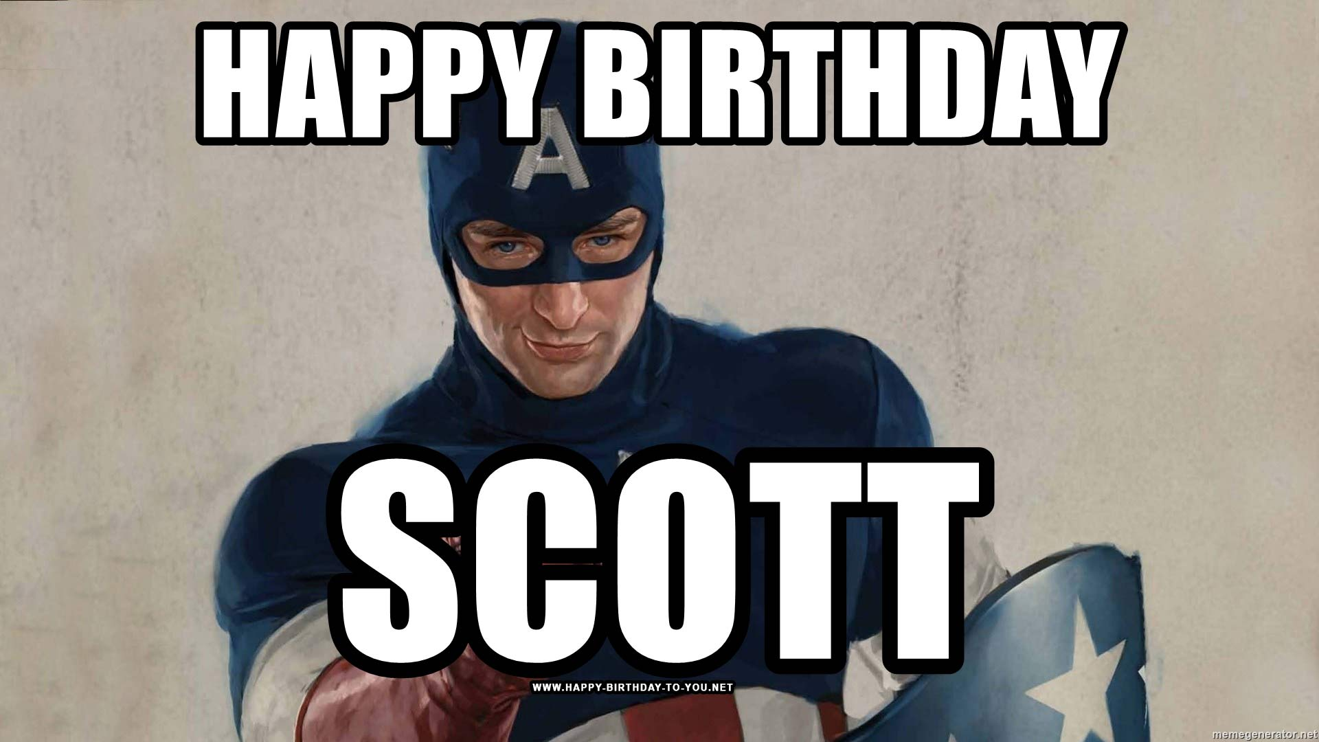 Captain America Birthday Meme