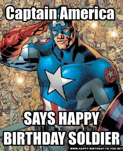 Captain America Happy Birthday Meme