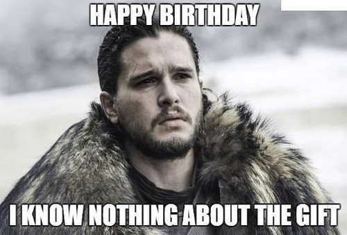 Game of Thrones Happy Birthday Meme