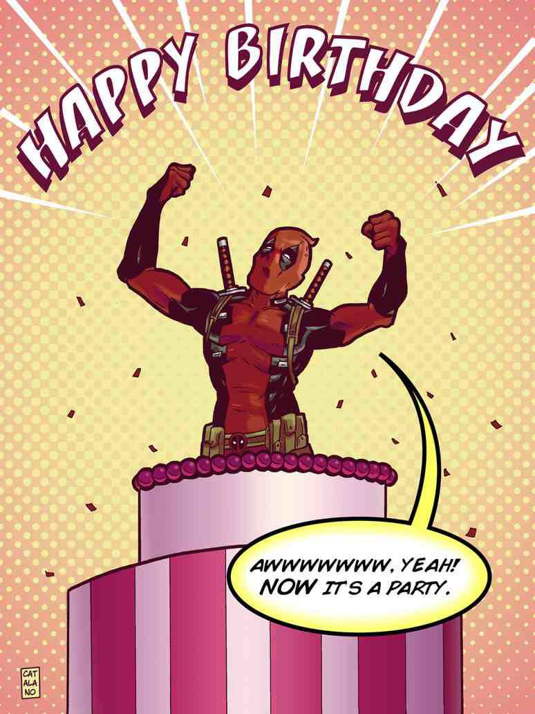 Deadpool Happy Birthday