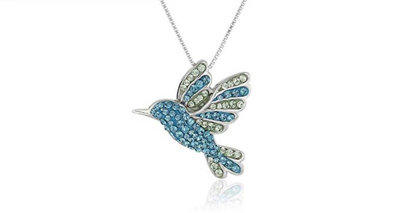 Sterling Silver Hummingbird necklace - present for girlfriend