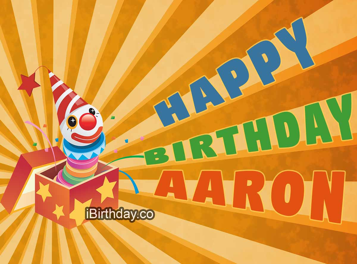 Arron Happy Birthday Clown