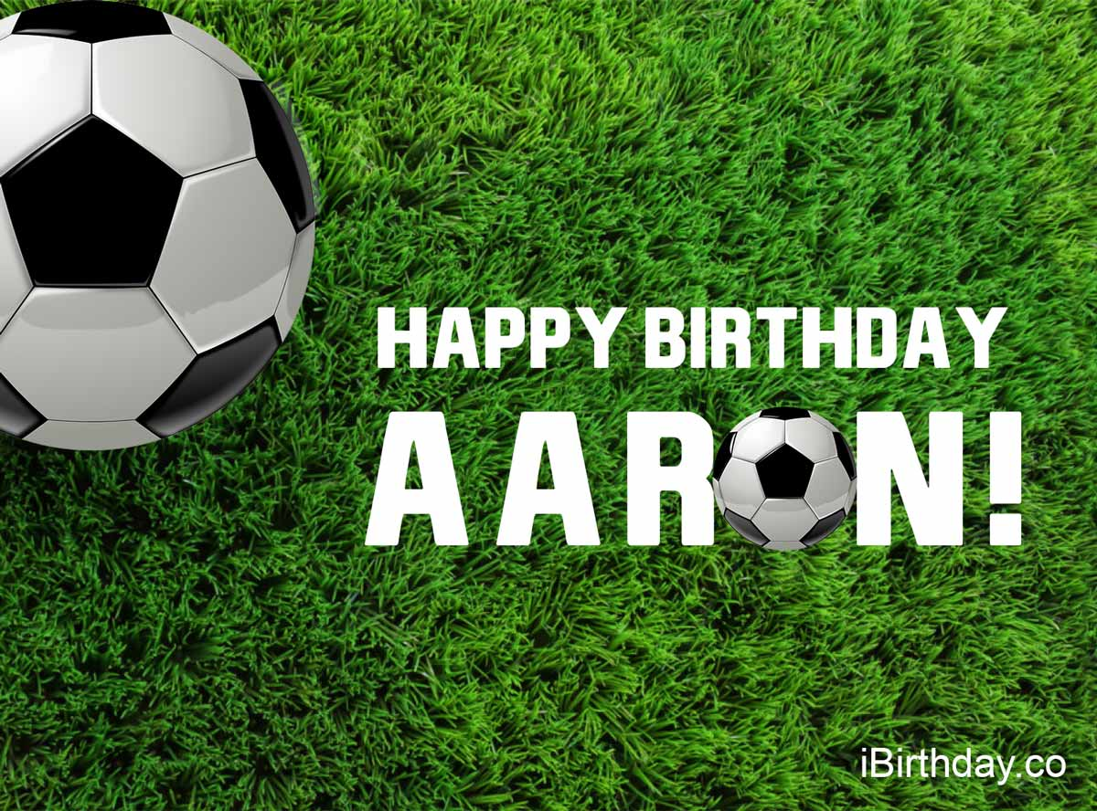 Aaron Happy Birthday Soccer