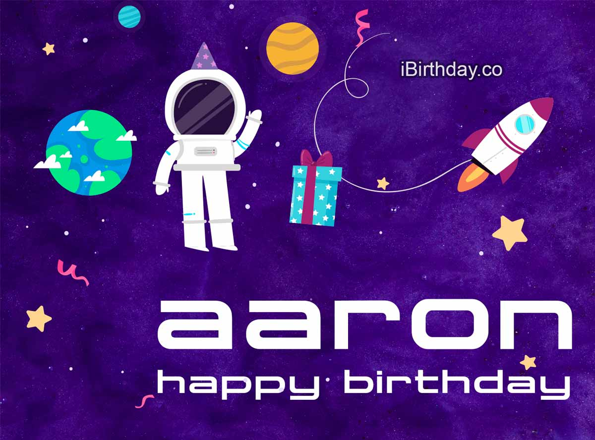 Aaron Spaceman Birthday Meme