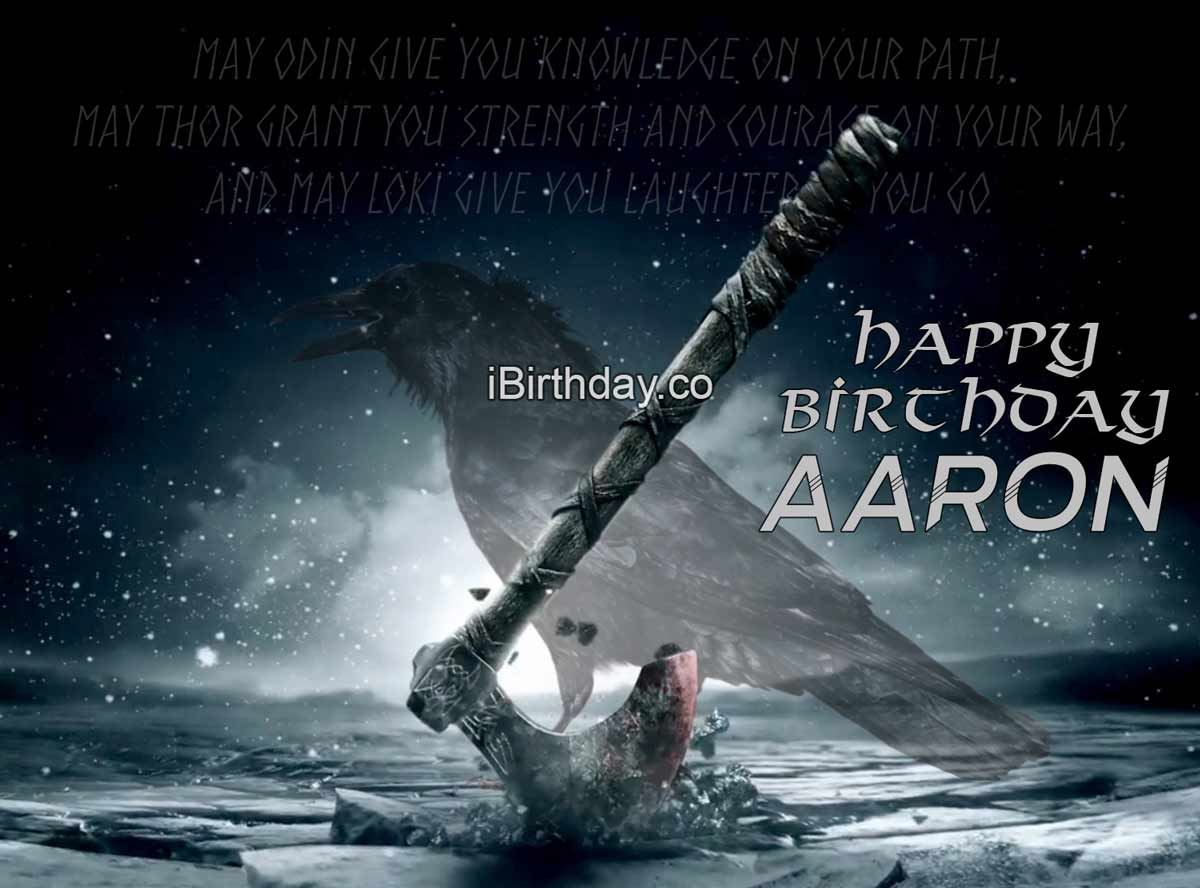 Aaron Viking Birthday Meme