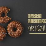 Abigail Donut Happy Birthday