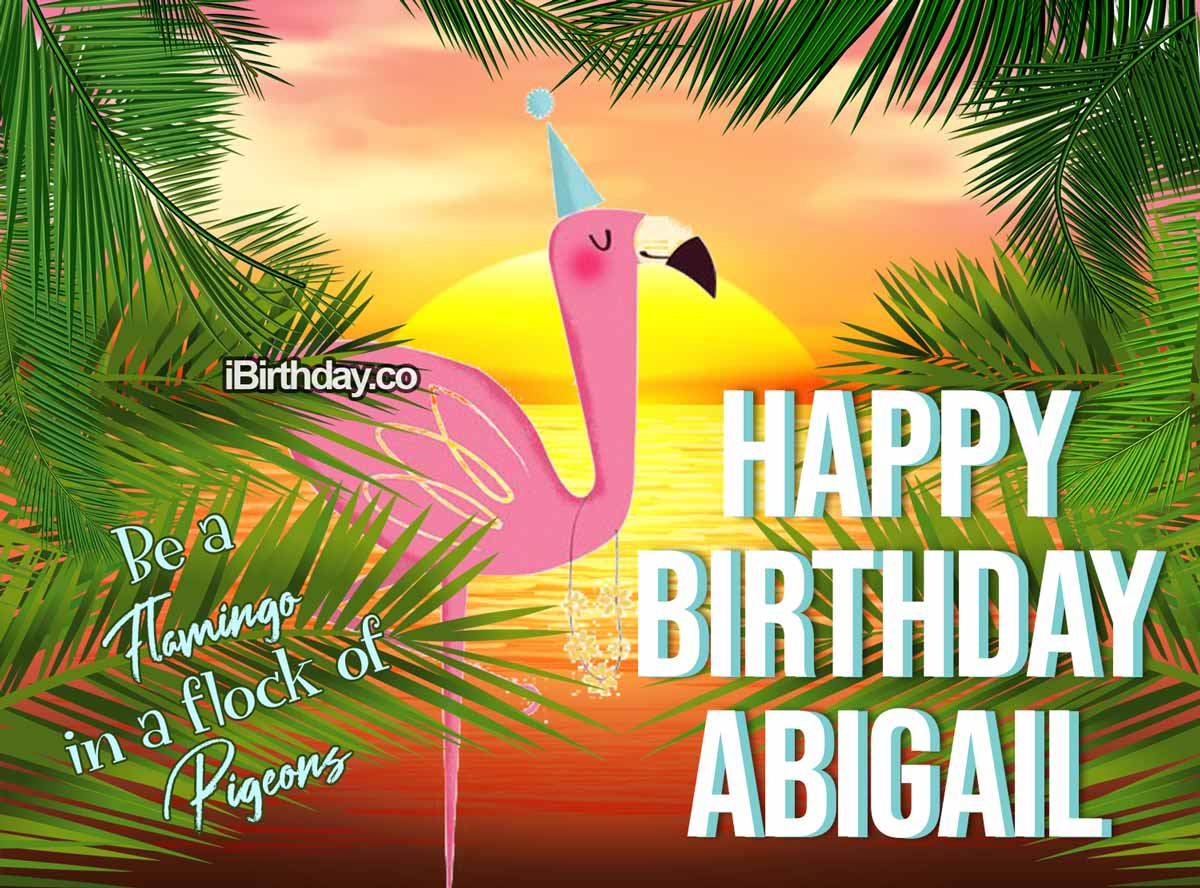 Abigail Flamingo Birthday Quote