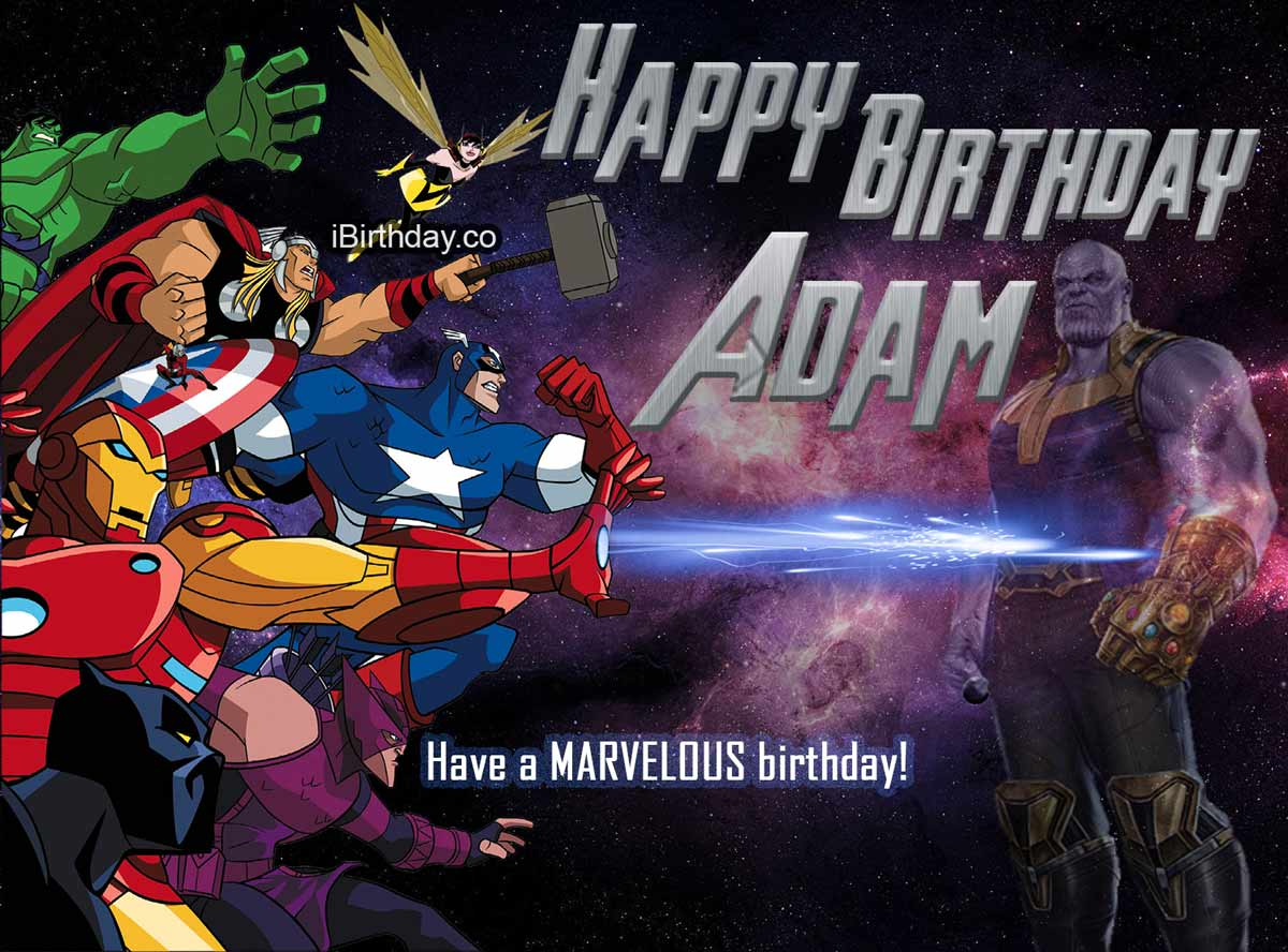 Adam Avengers Birthday Meme