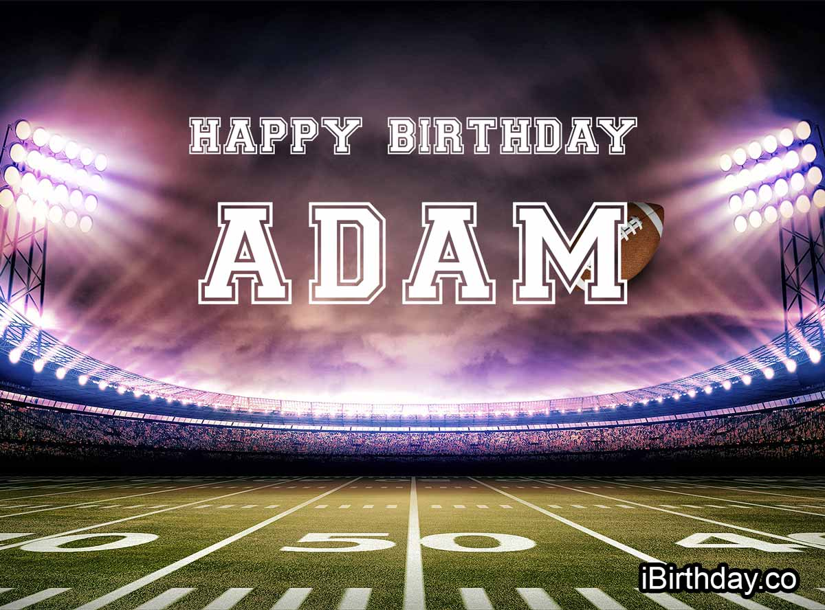Adam Football Birthday Meme