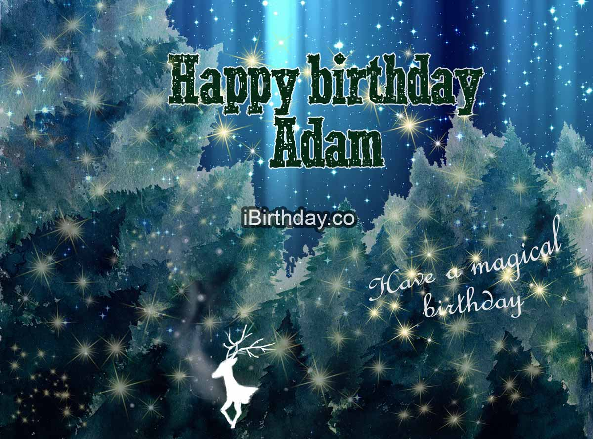 Adam Magic Happy Birthday Wish