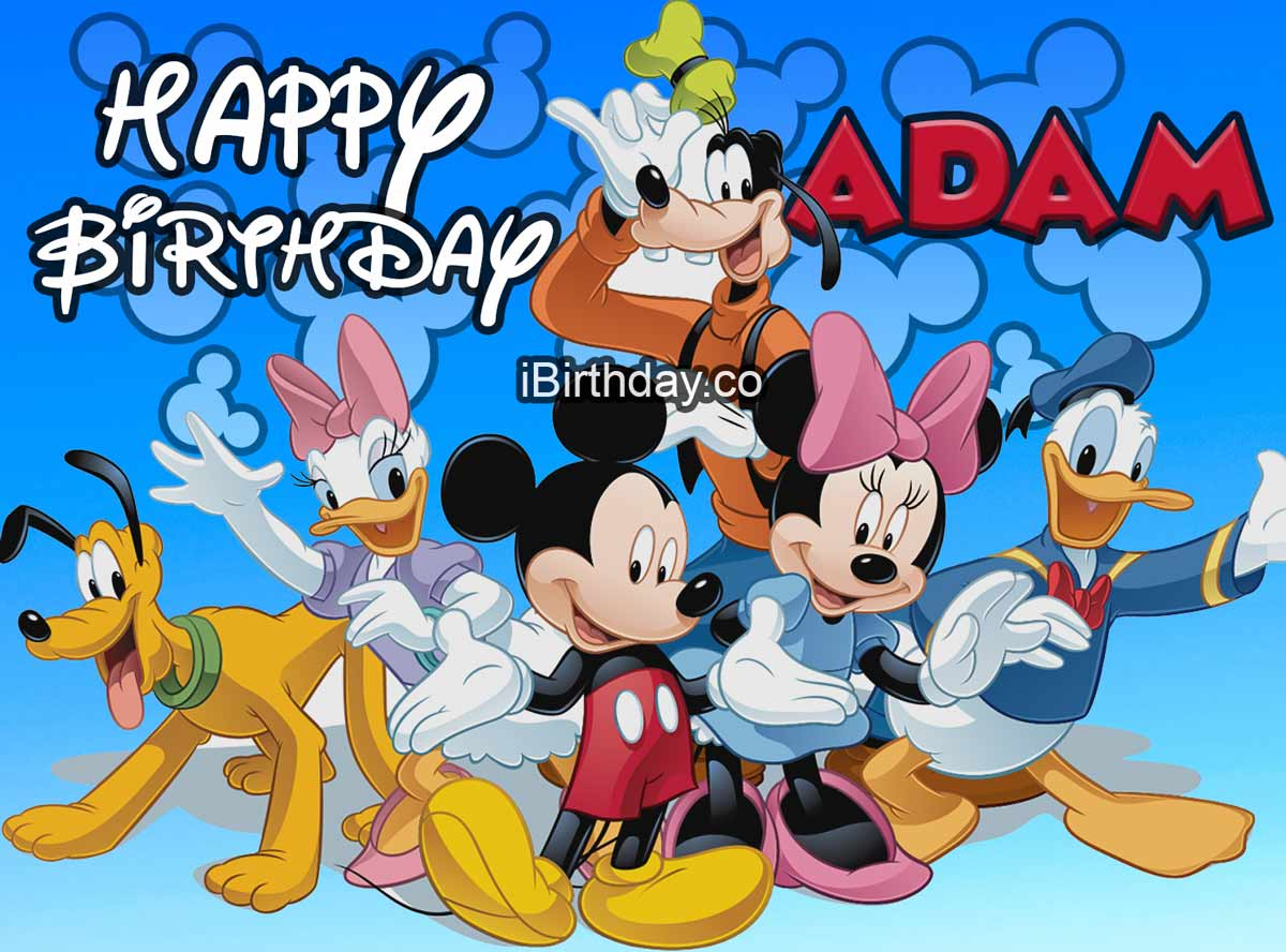 Adam Mickey Mouse Happy Birthday