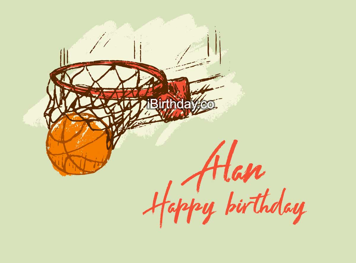 Alan Basketball Birthday Meme