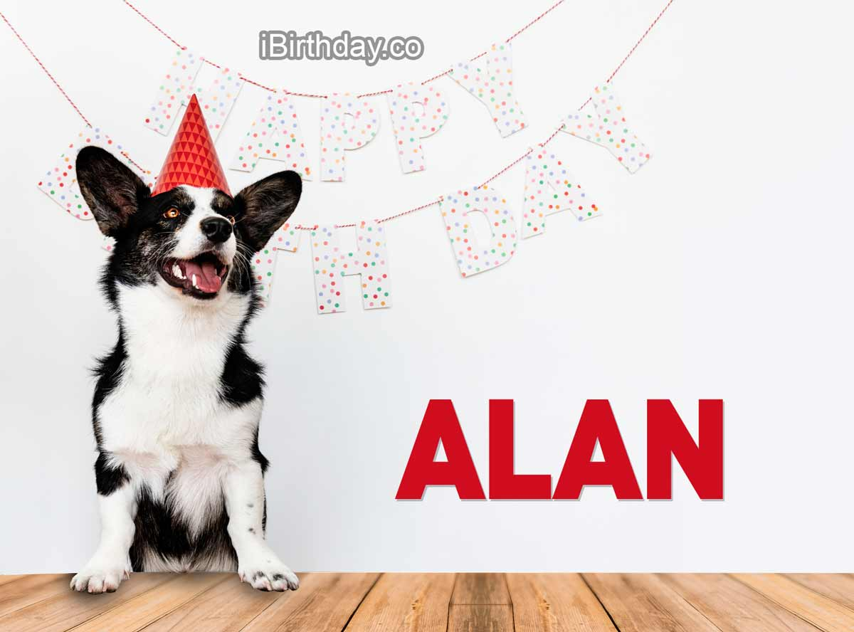 Alan Dog Happy Birthday