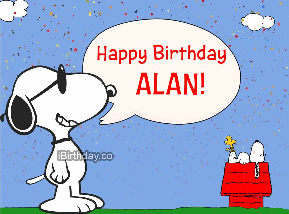Alan Snoopy Happy Birthday
