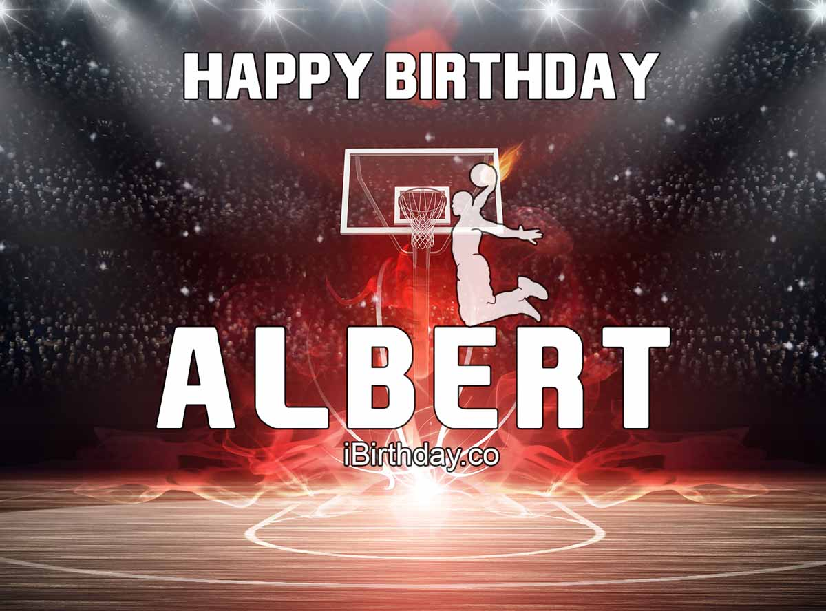 Albert Basketball Birthday Meme