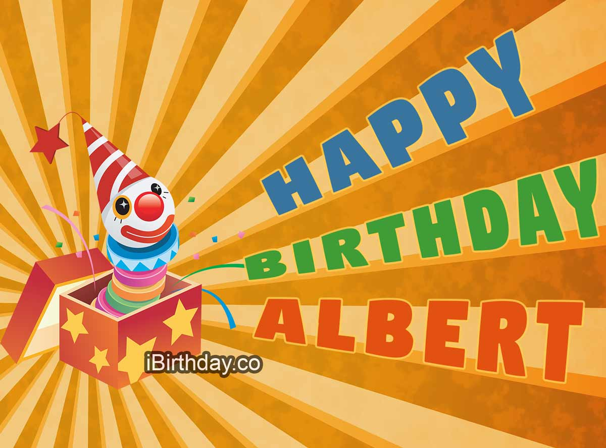Albert Birthday Clown Meme