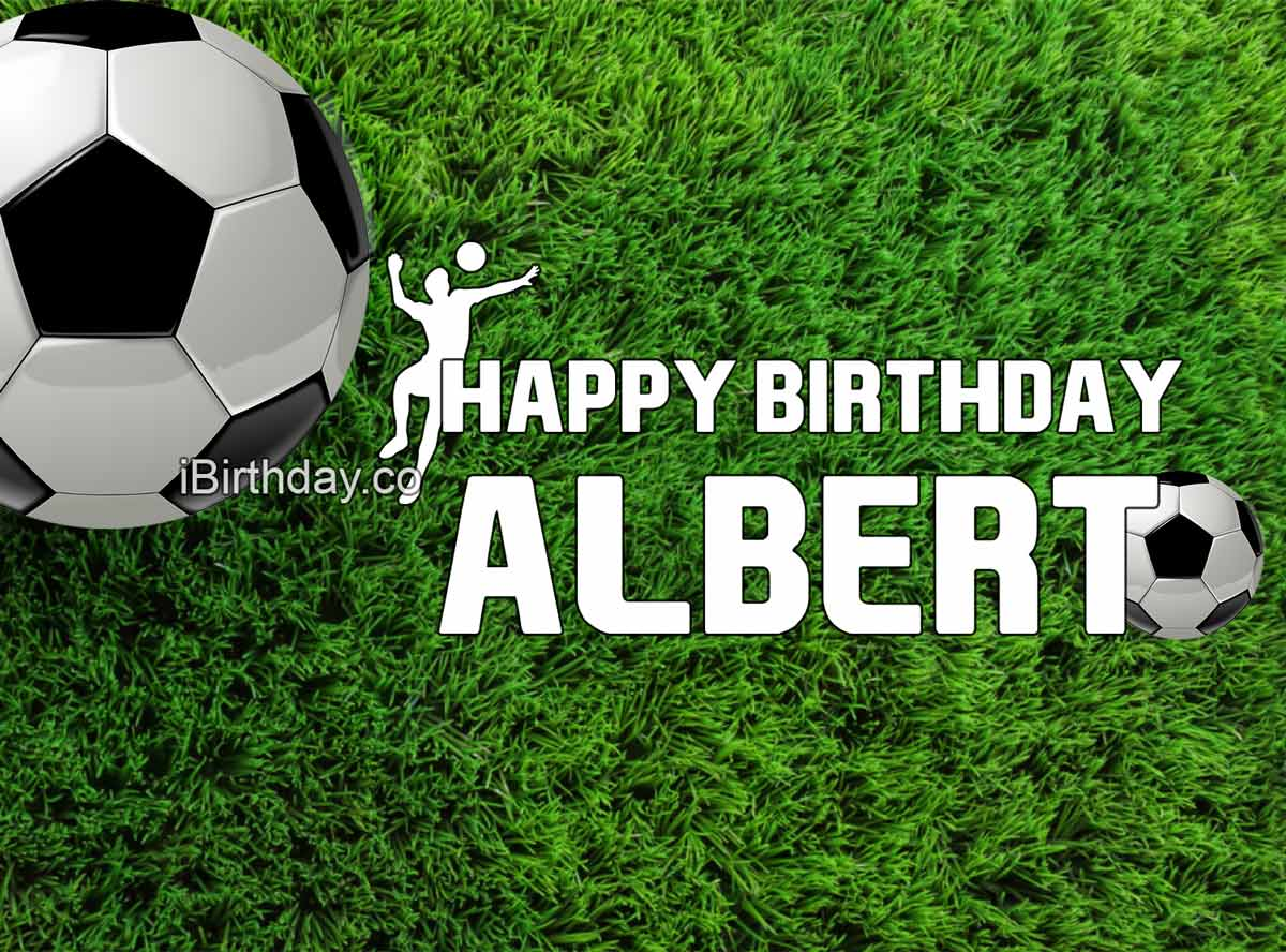Albert Soccer Birthday Meme