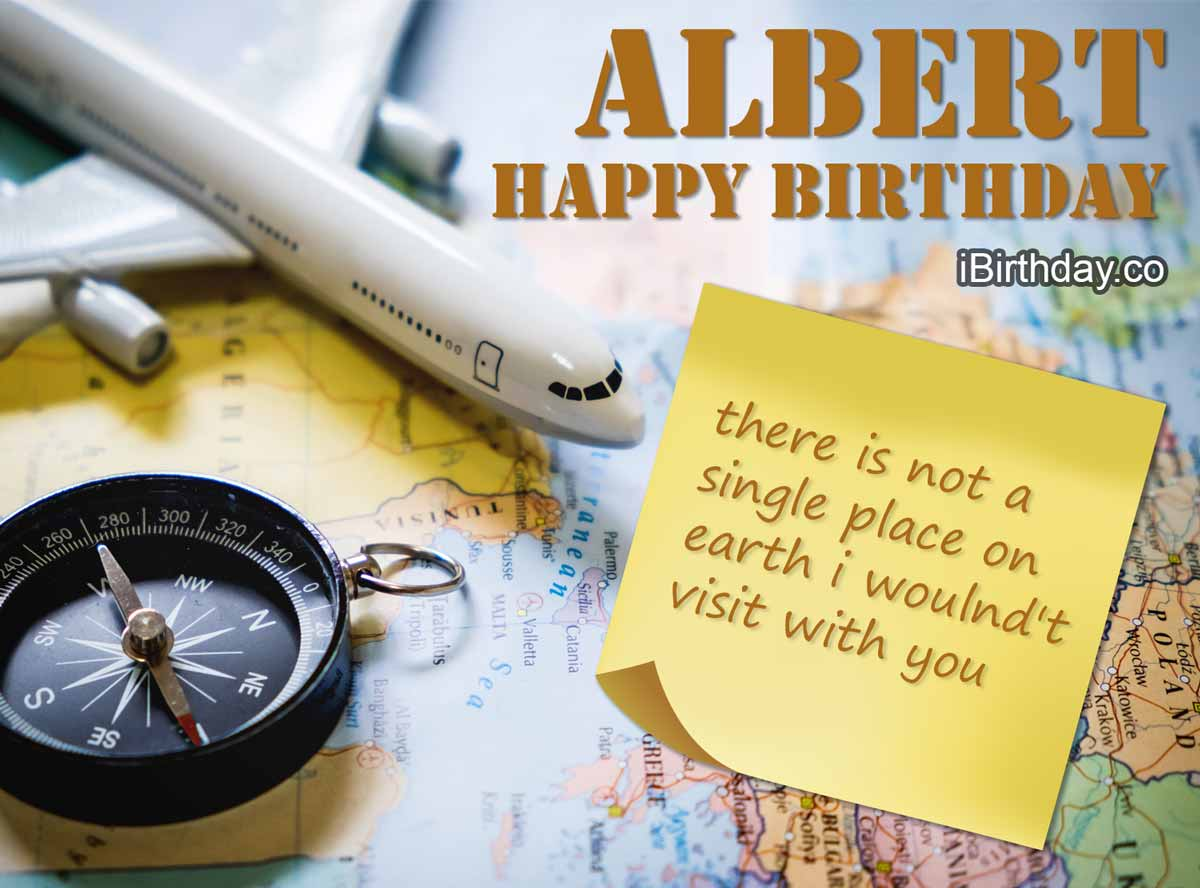 Albert Travel Birthday Quote