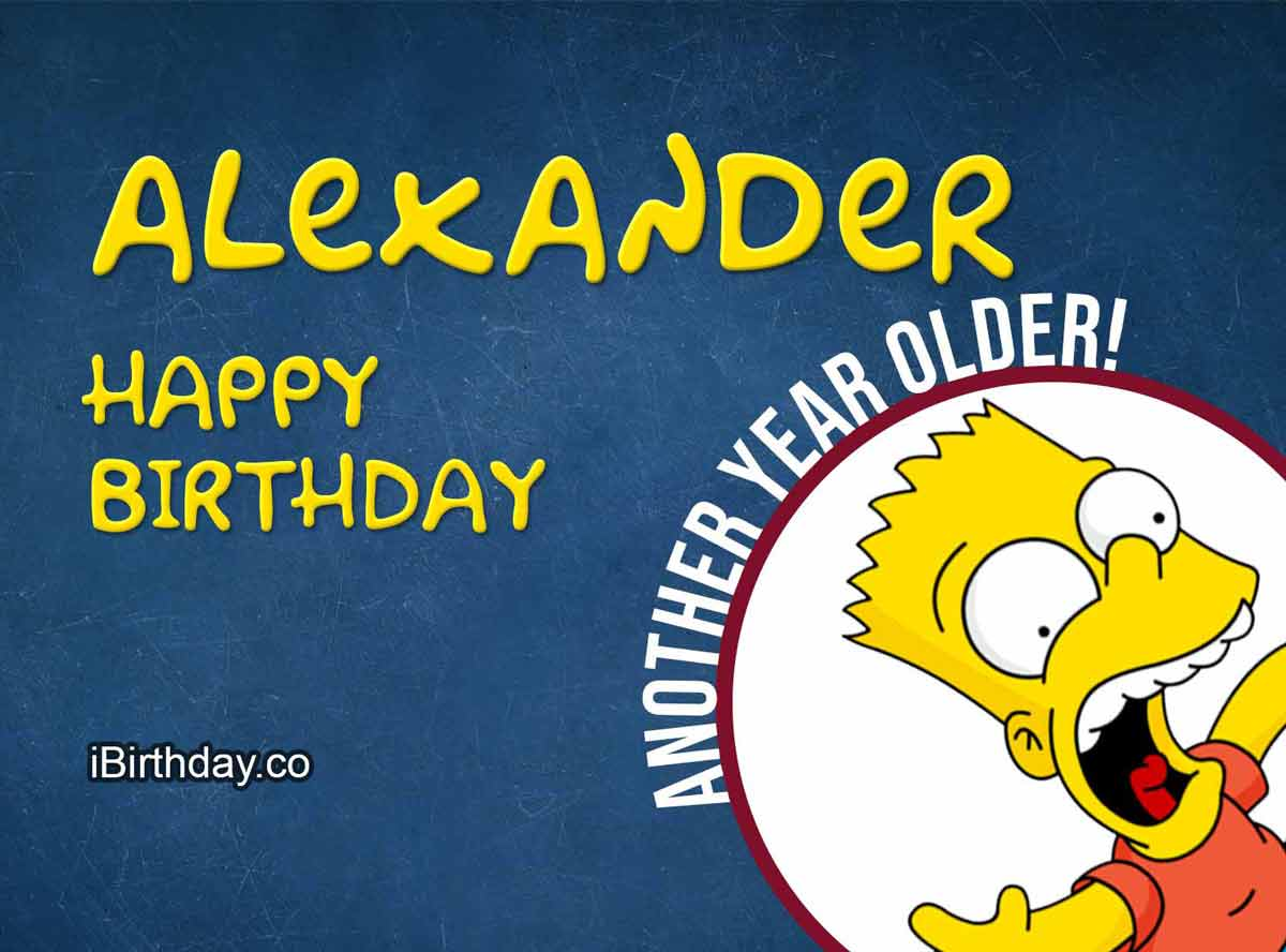 Alexander Bart Simpson Birthday Meme
