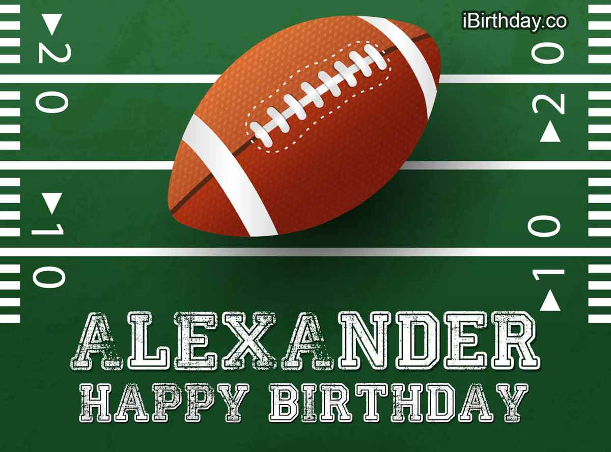 Alexander Rugby Happy Birthday