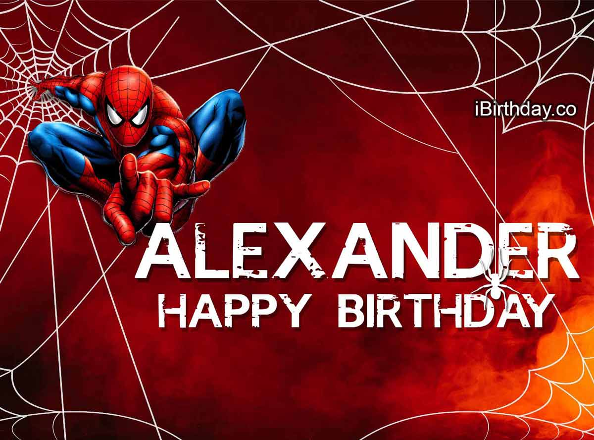 Alexander Spider-man Birthday Meme