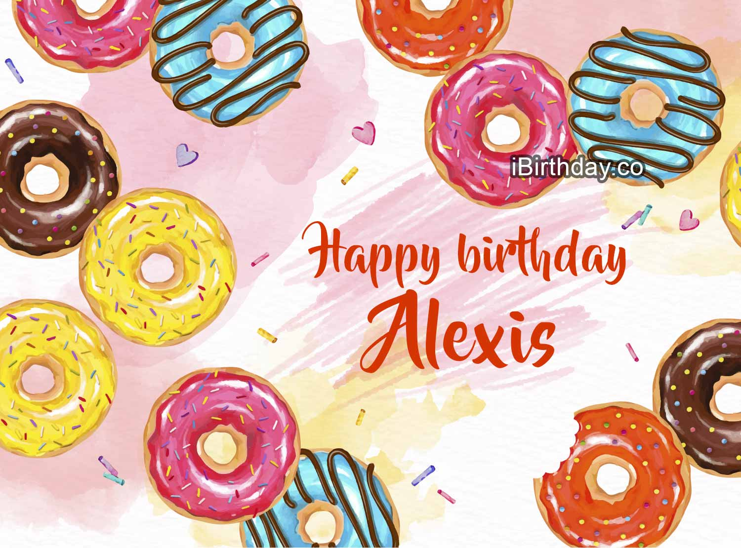 Alexis Donuts Happy Birthday