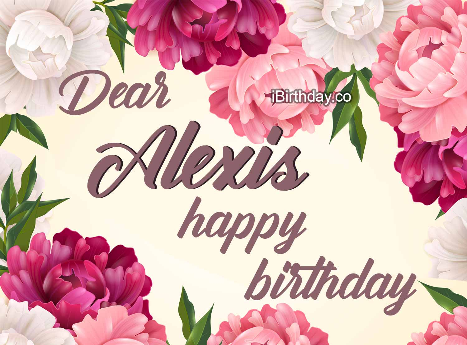 Alexis Flowers Birthday Wish