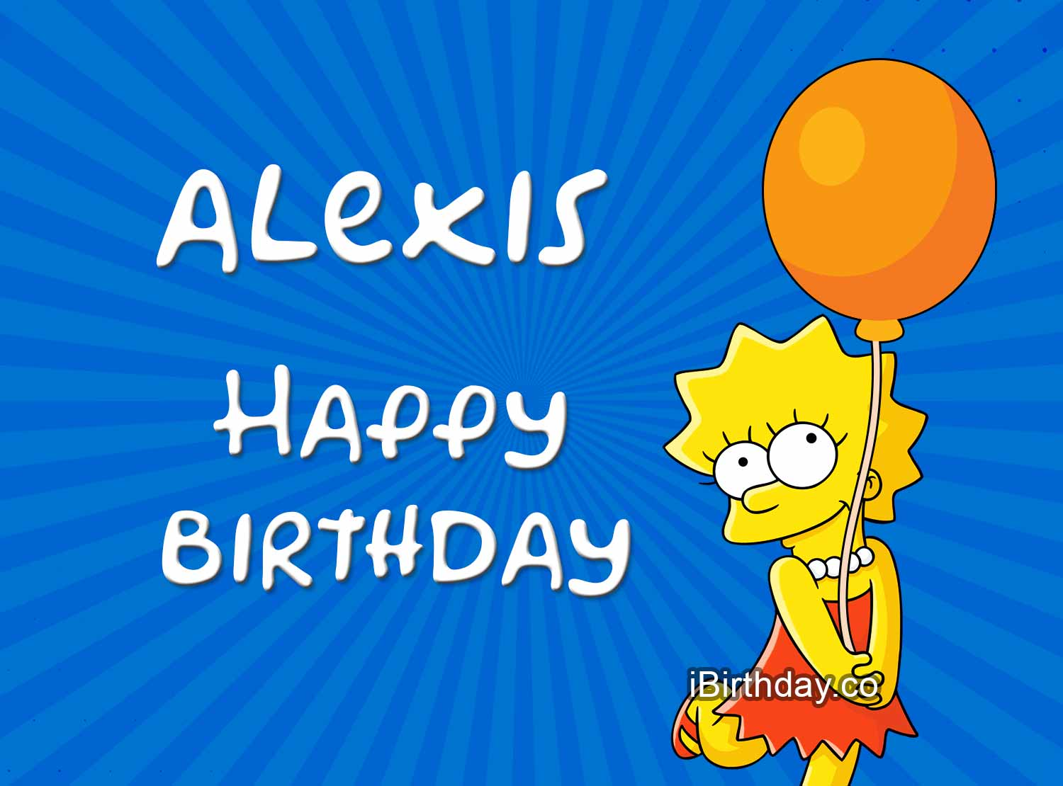 Alexis Lisa Simpsons Birthday Meme