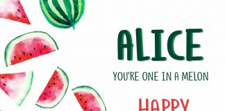 Alice Melon Birthday Wish