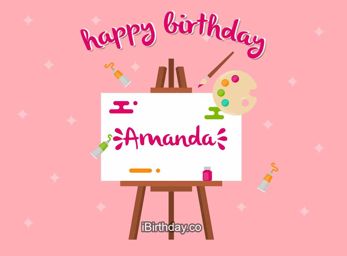 Amanda Art Happy Birthday