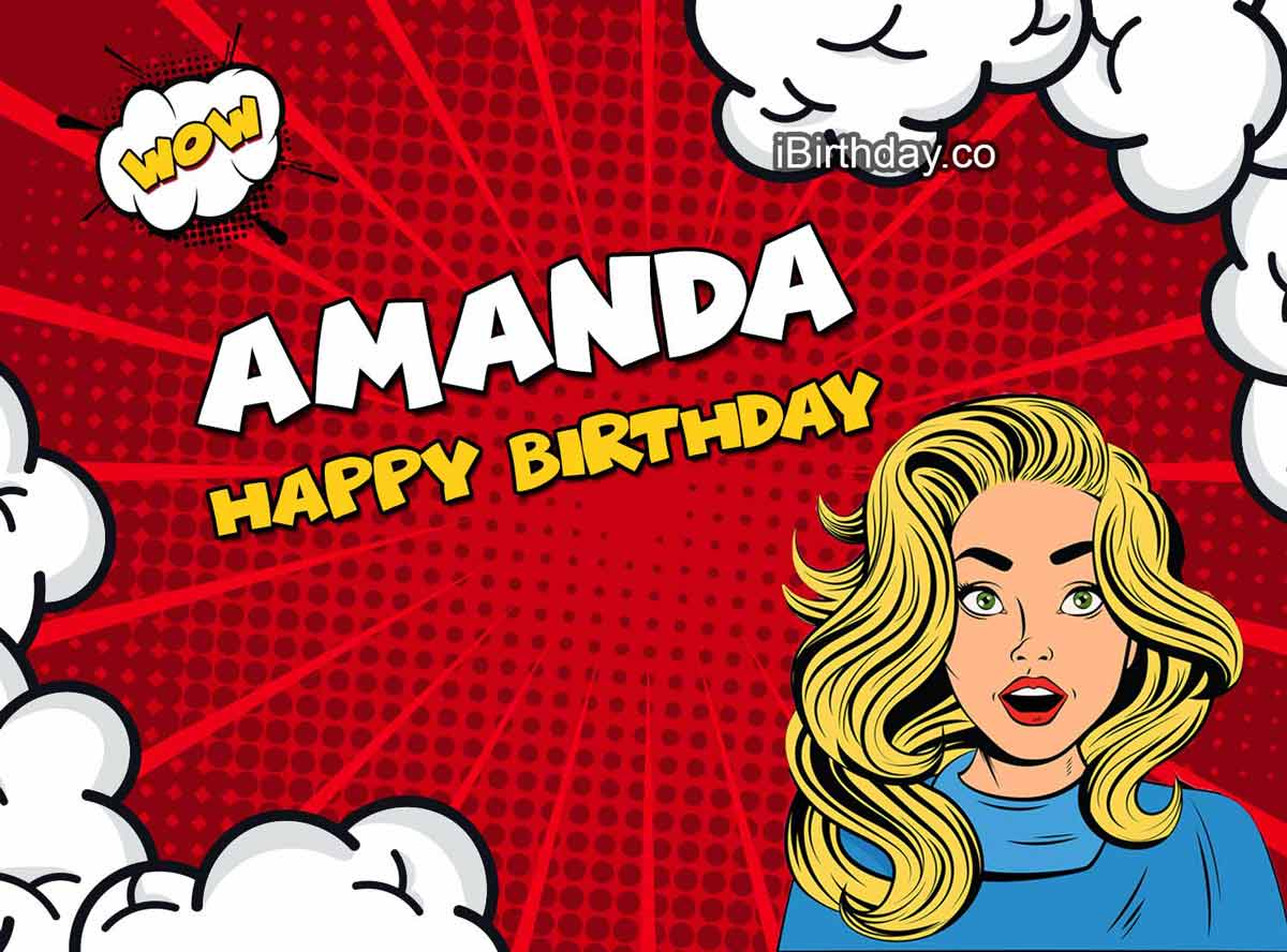 Amanda Girl Comic Birthday Meme