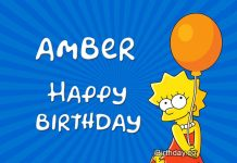 Amber Lisa Simpson Birthday Meme