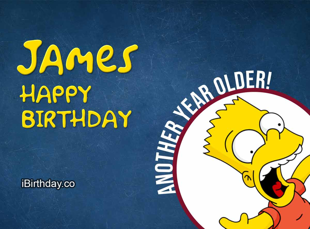 James Happy Birthday Bart Simpson