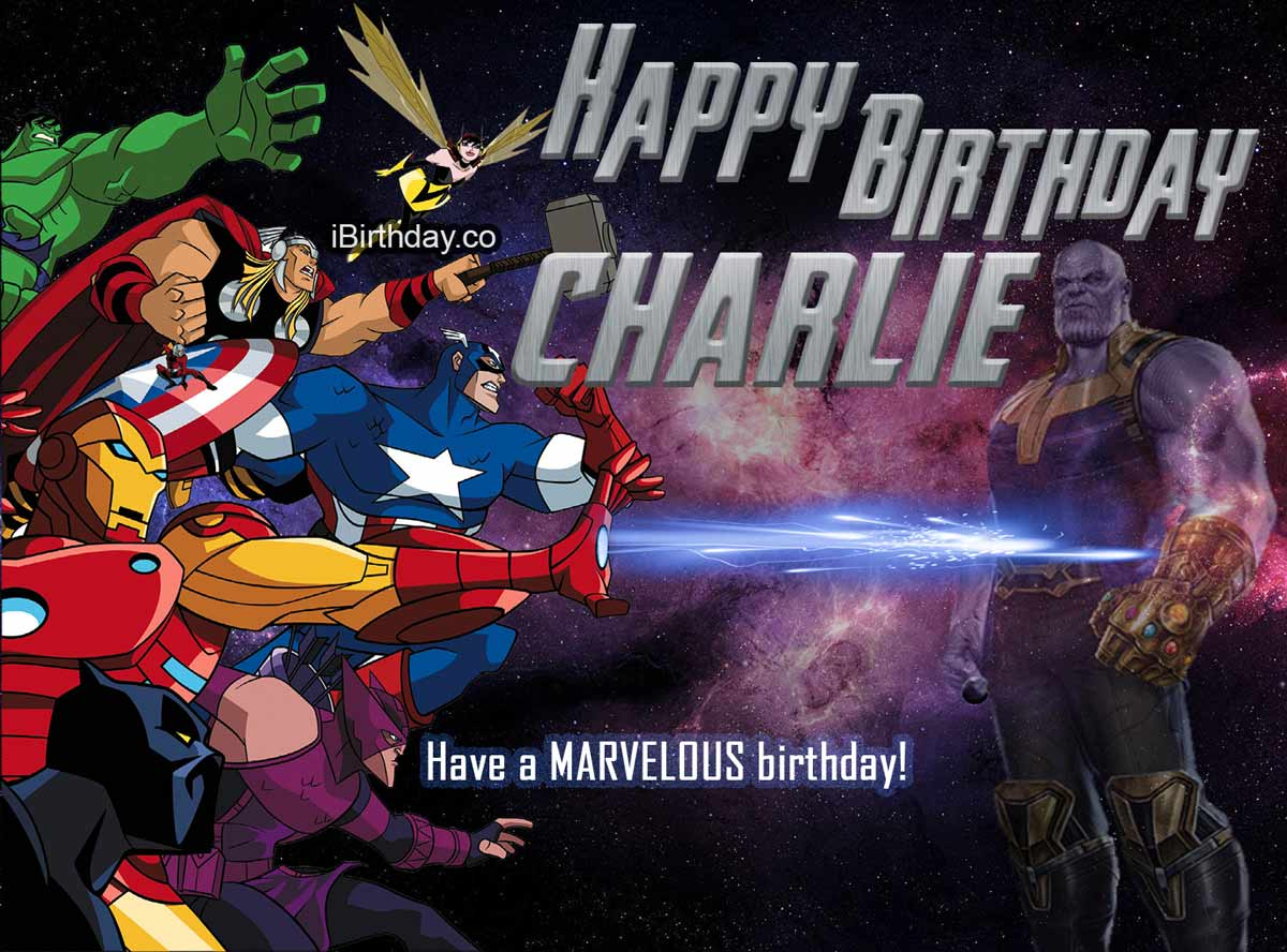 Charlie Avengers Happy Birthday