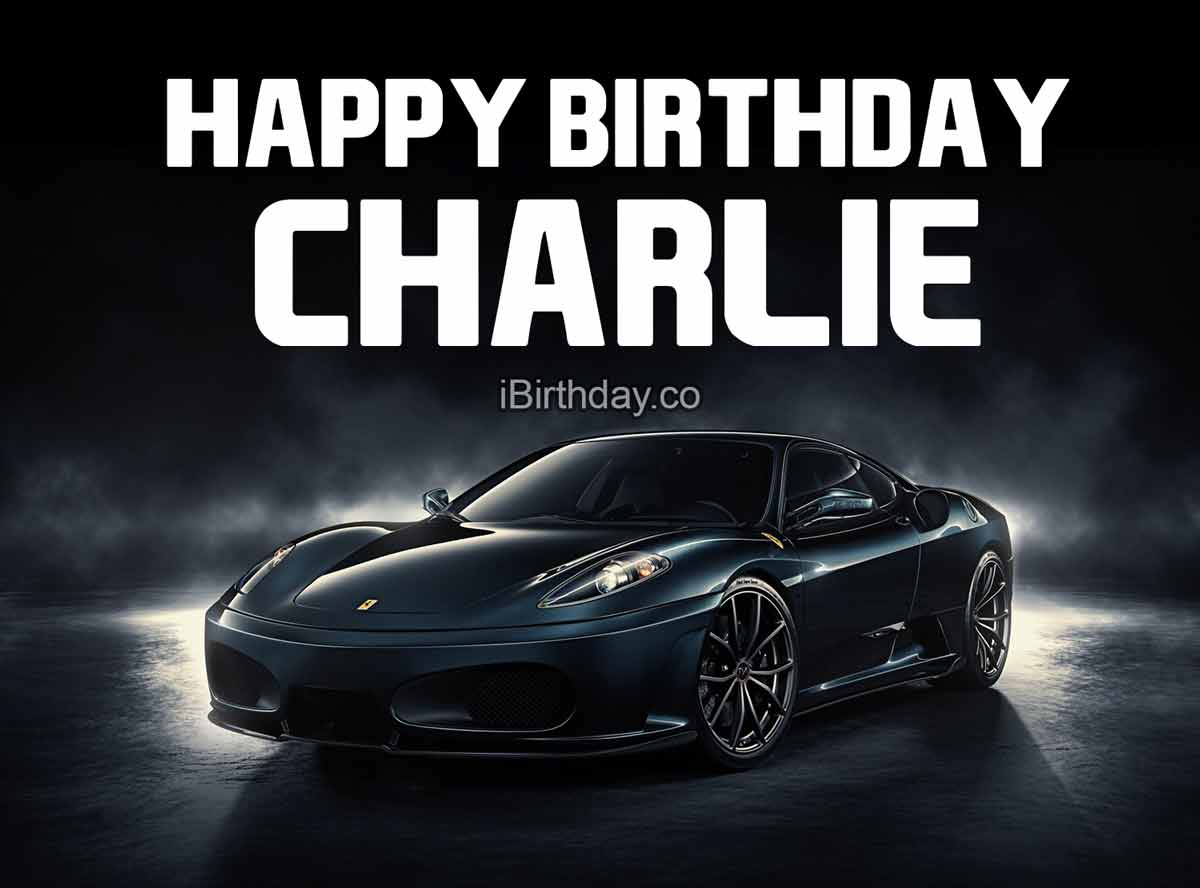 Charlie Car Birthday
