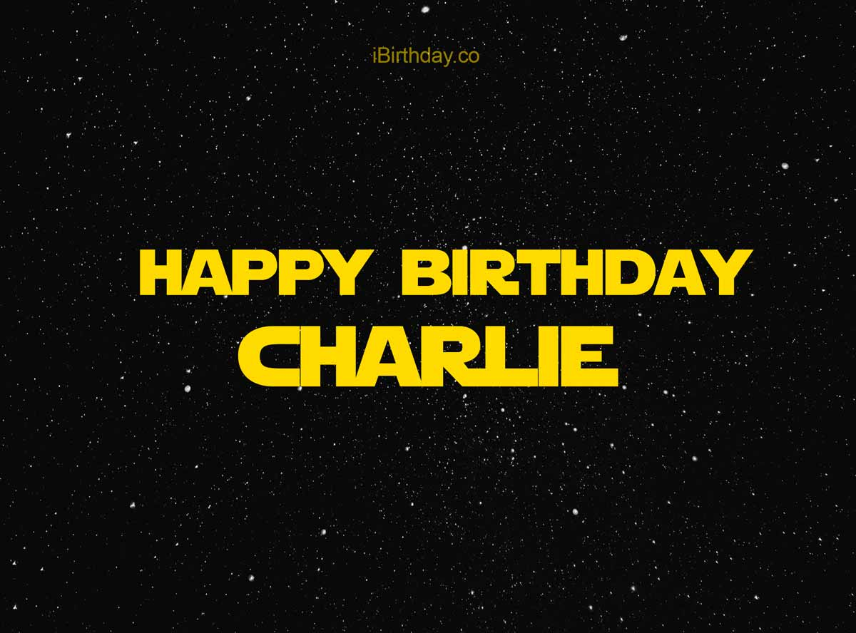 Charlie Star Wars Happy Birthday Meme