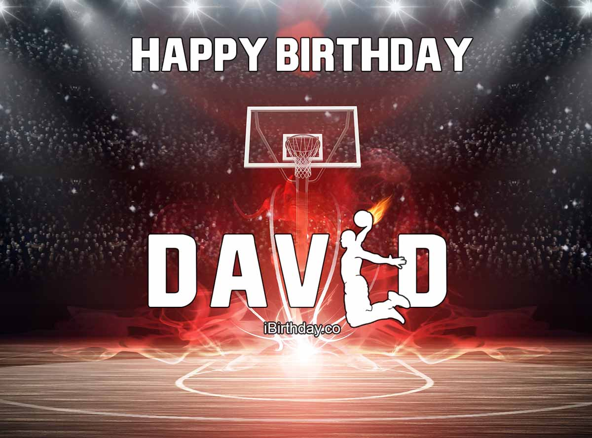 David Basketball Birthday Meme
