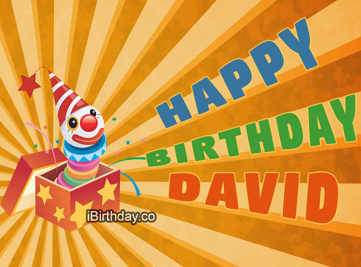 David Birthday Clown Meme