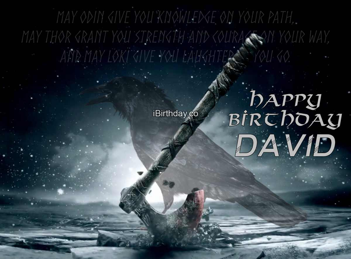 David Viking Birthday Quote