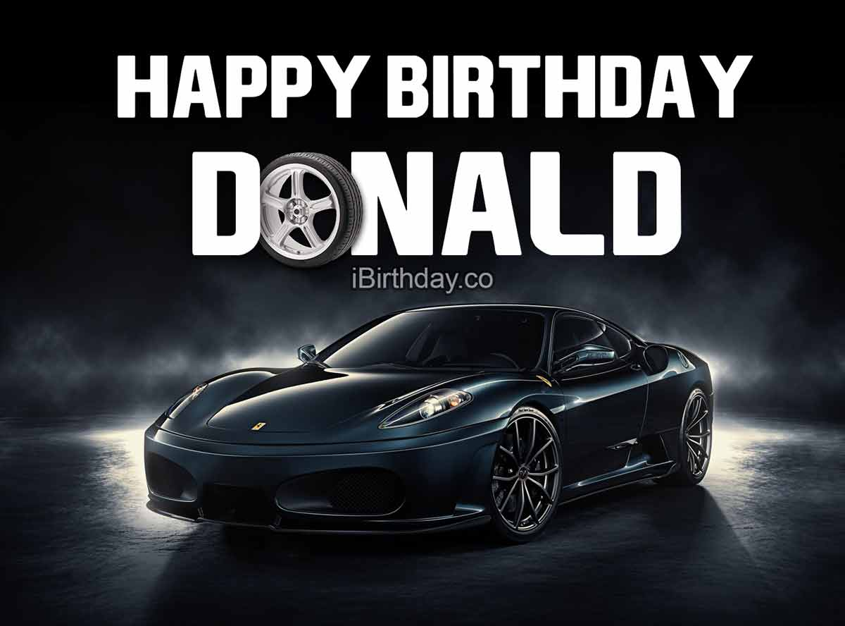 Donald Birthday Car With Tire Meme