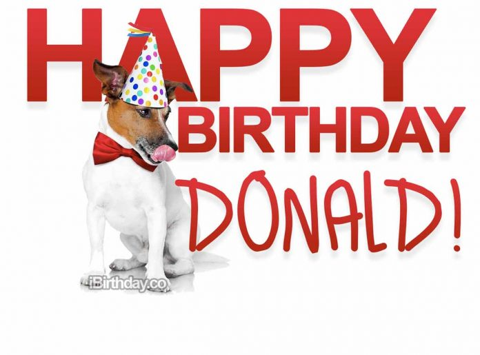 Donald Dog Birthday Meme