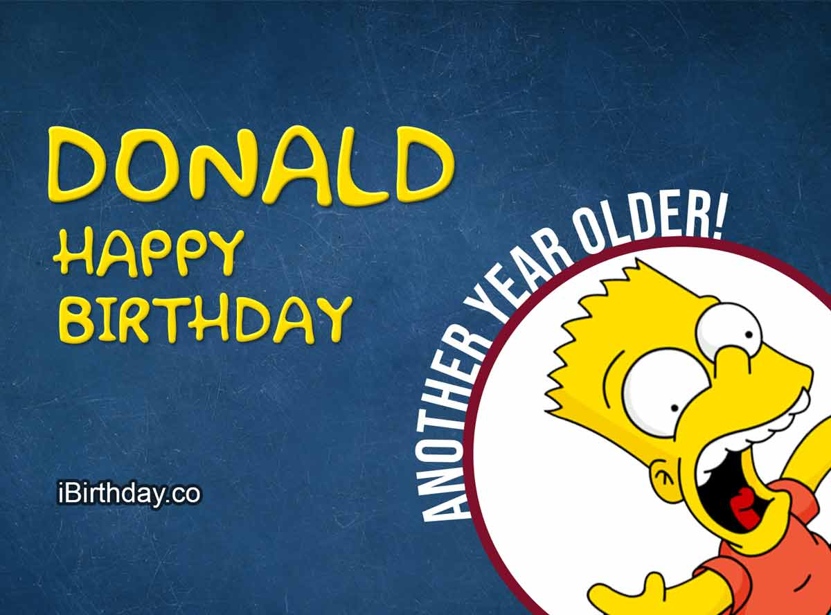 Donald Happy Birthday Bart Simpson