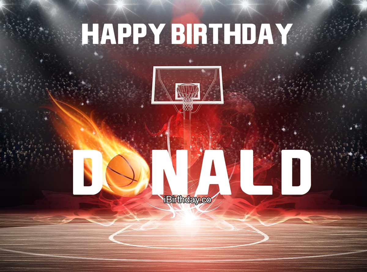 Donald Happy Birthday Basketball