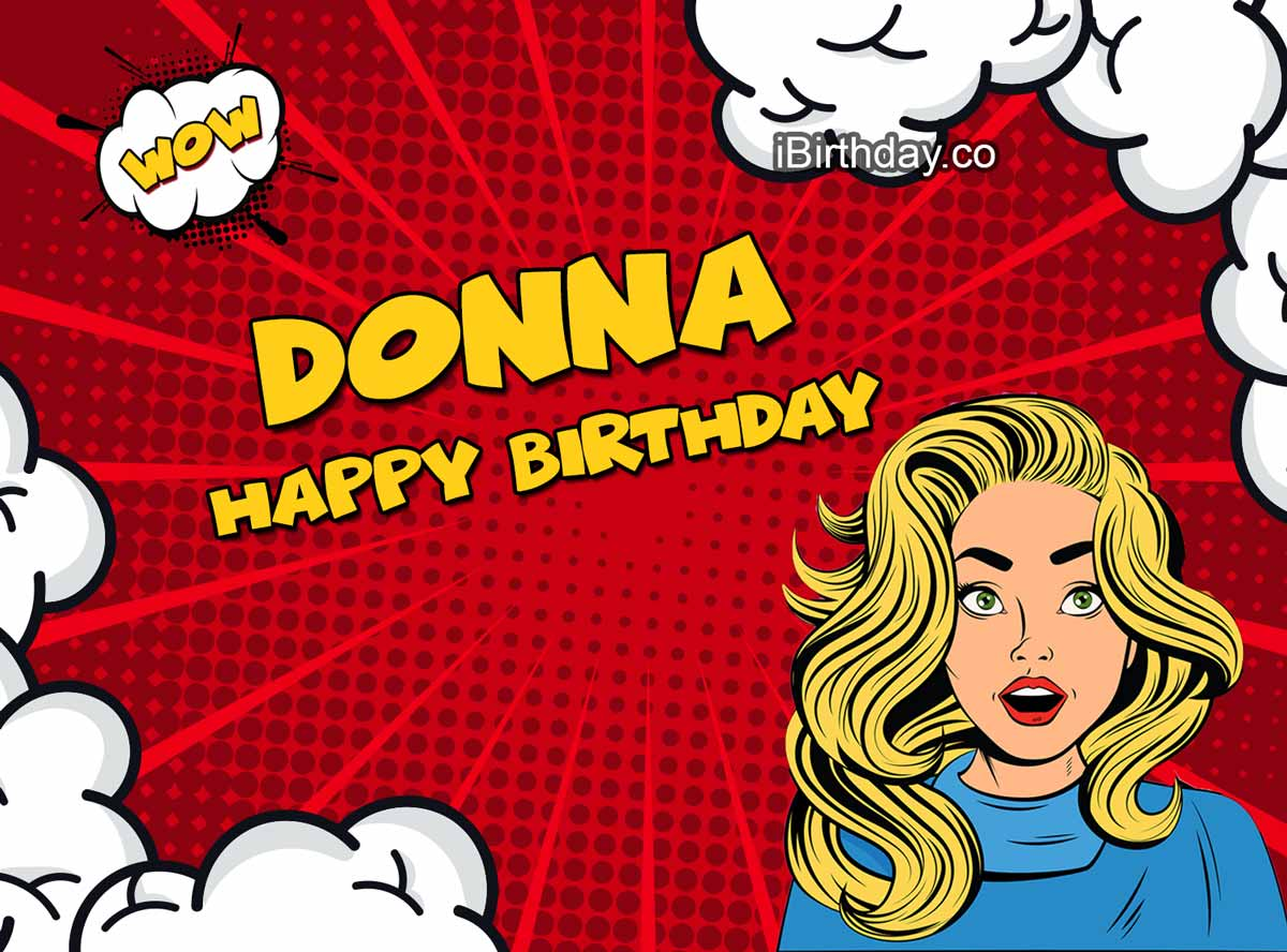 Donna Comic Birthday Meme