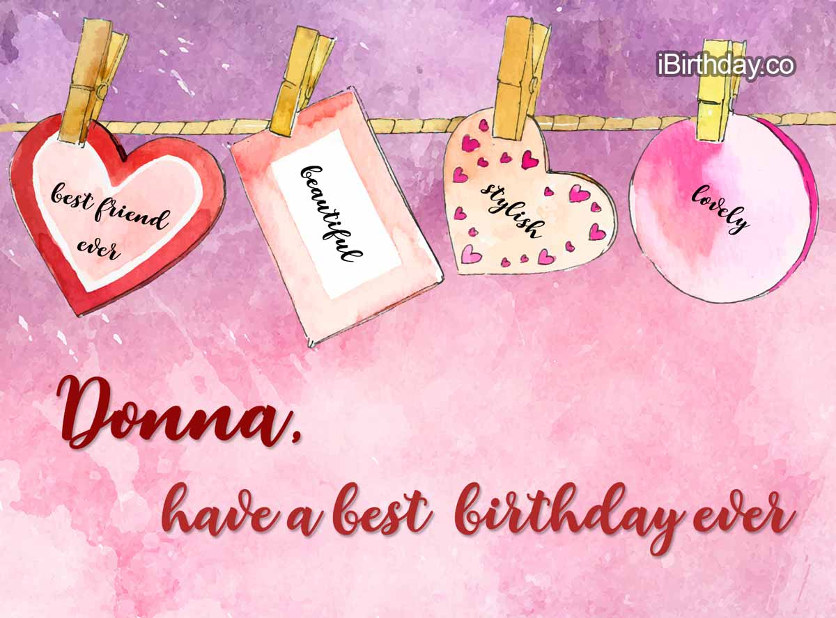 Donna Heart Birthday Wish
