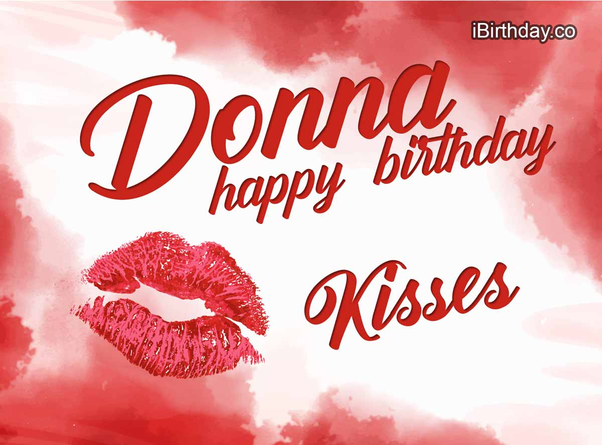 Donna Kiss Birthday Wish