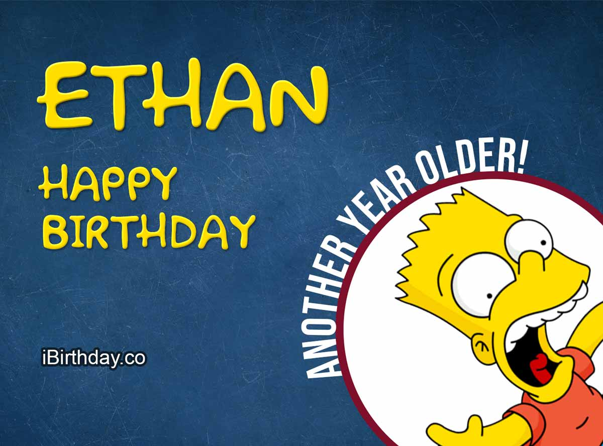 Ethan Bart Simpson Birthday Meme